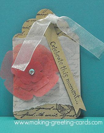 wedding tag/Diecut Flower Wedding Tag