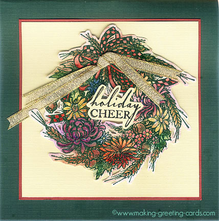 wreath christmas card