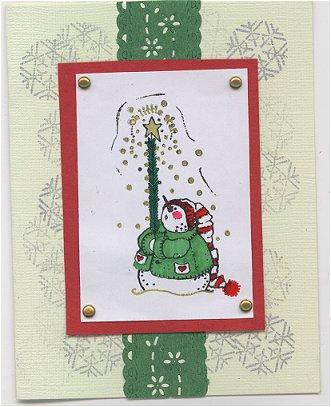 Ying's Snowman Christmas Card