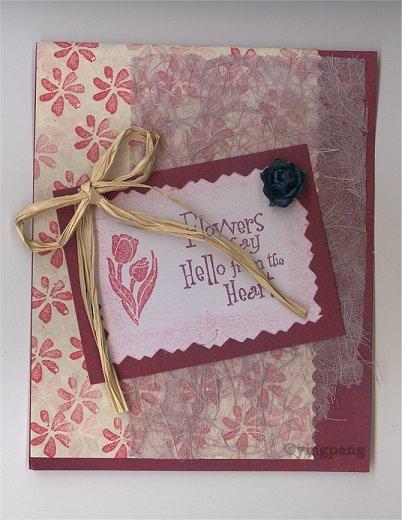 a handmade card